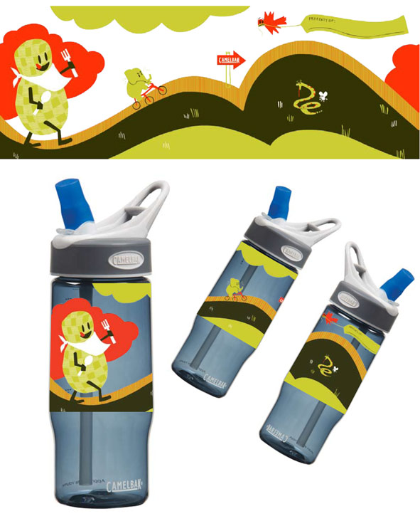 Camelbak Bottle Illustration