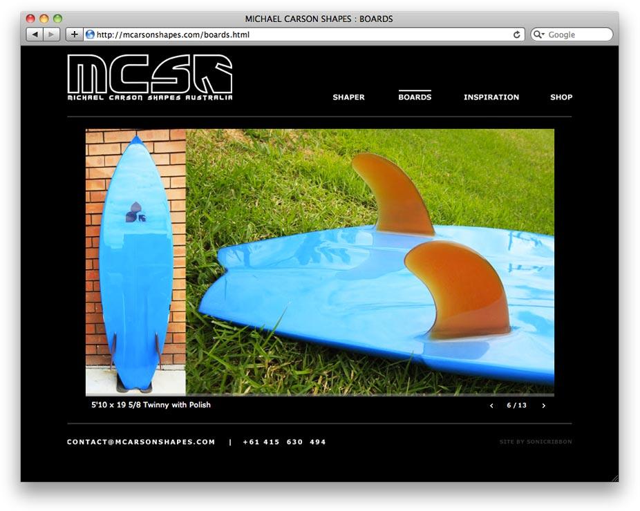 Michael Carson Shapes Website